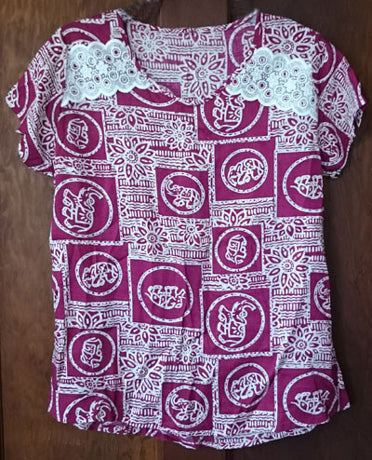 Exclusive handmade ladies blouse from Sri Lanka