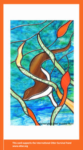 Stained Glass Otter e-Card (Blank)