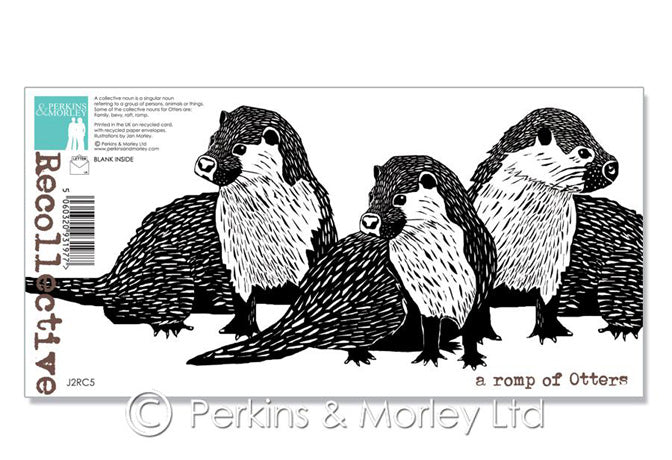 "NEW ""A Romp of Otters"" card (Perkins & Morley)"