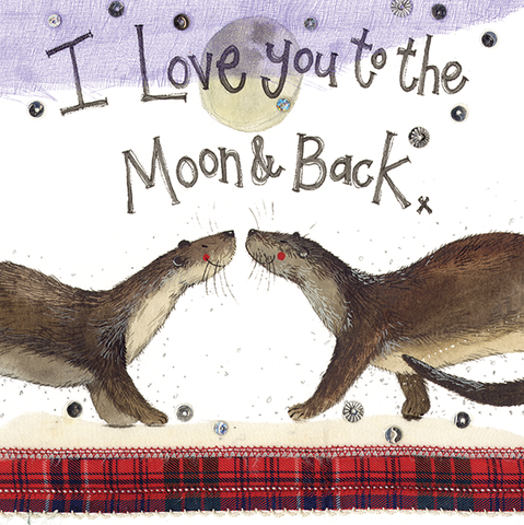 'I Love you to the Moon & Back' Card (Alex Clark)