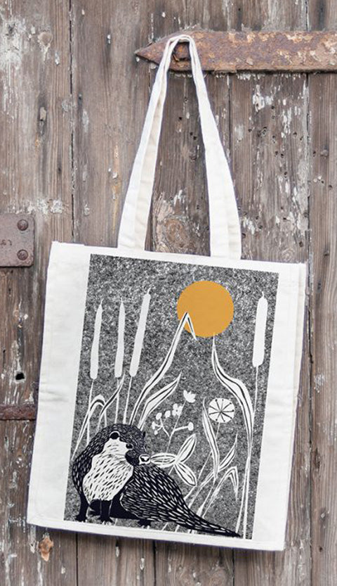 Wilder Otter design large tote (Perkins & Morley)