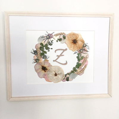 Wood Cut Floral Wreath