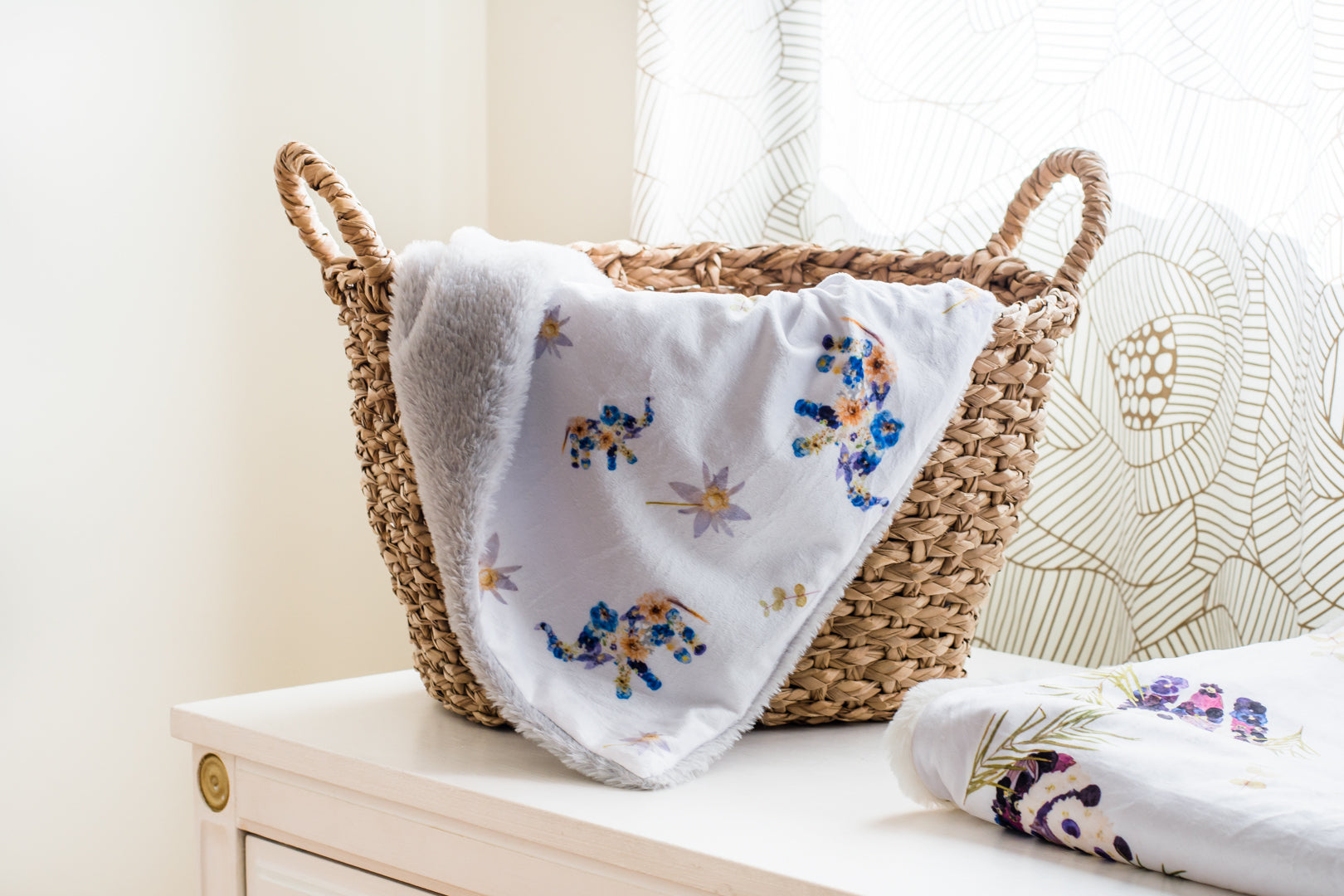 Blue Elephant Baby Blankets