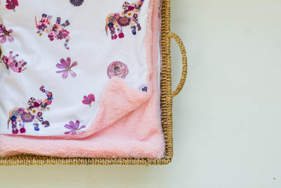 Pink Elephant Baby Blankets