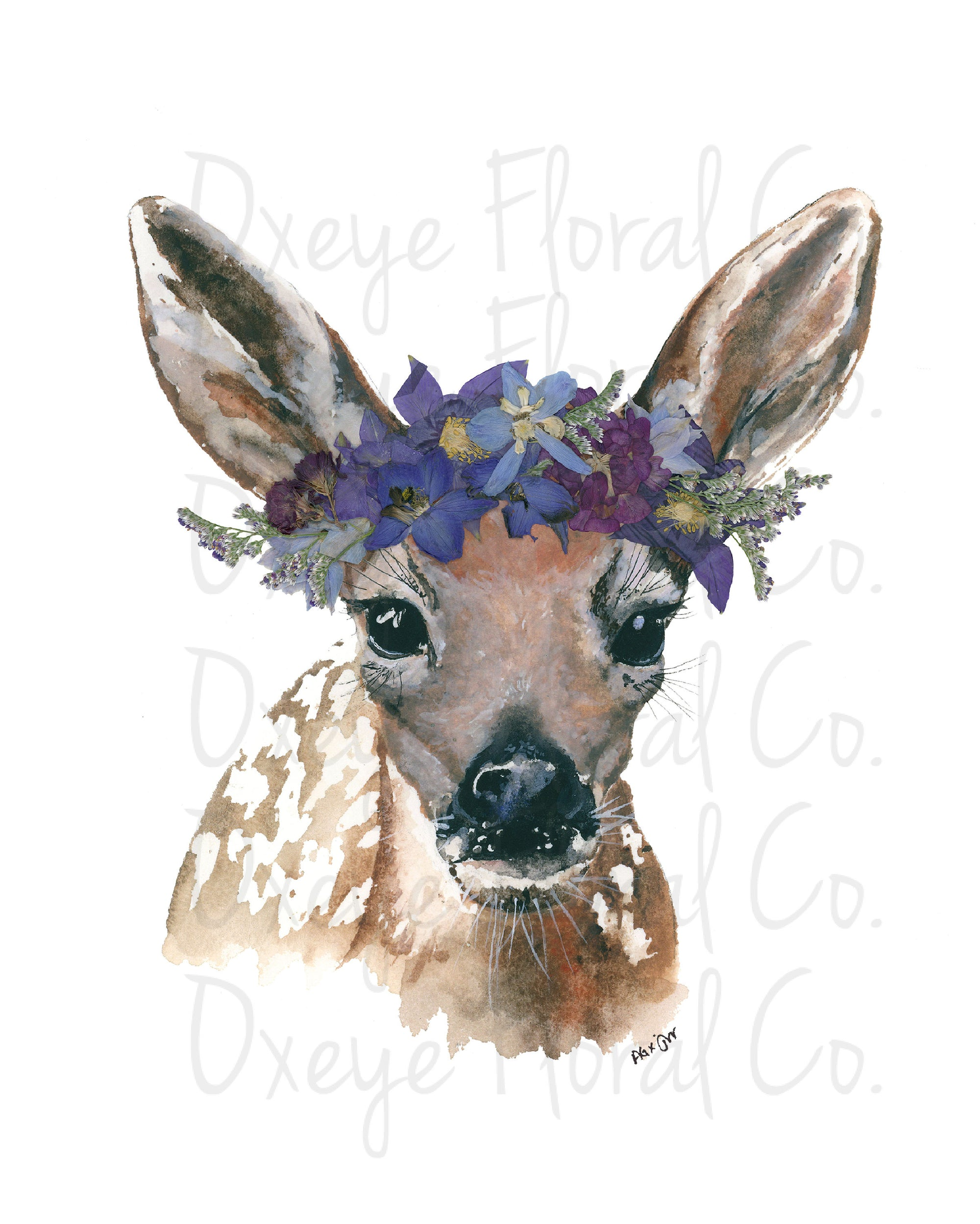 Lady Fawn (by night) Print