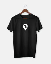 Load image into Gallery viewer, continent drop pin // unisex t-shirt, black