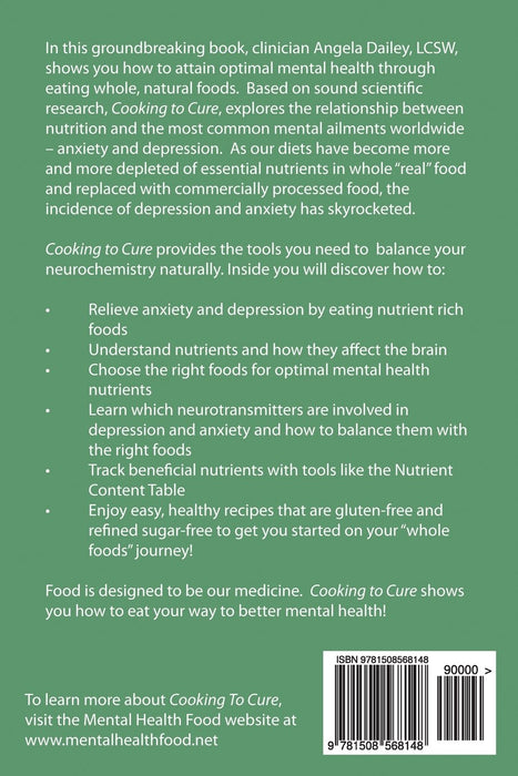 Cooking to Cure: A nutritional approach to anxiety and depression