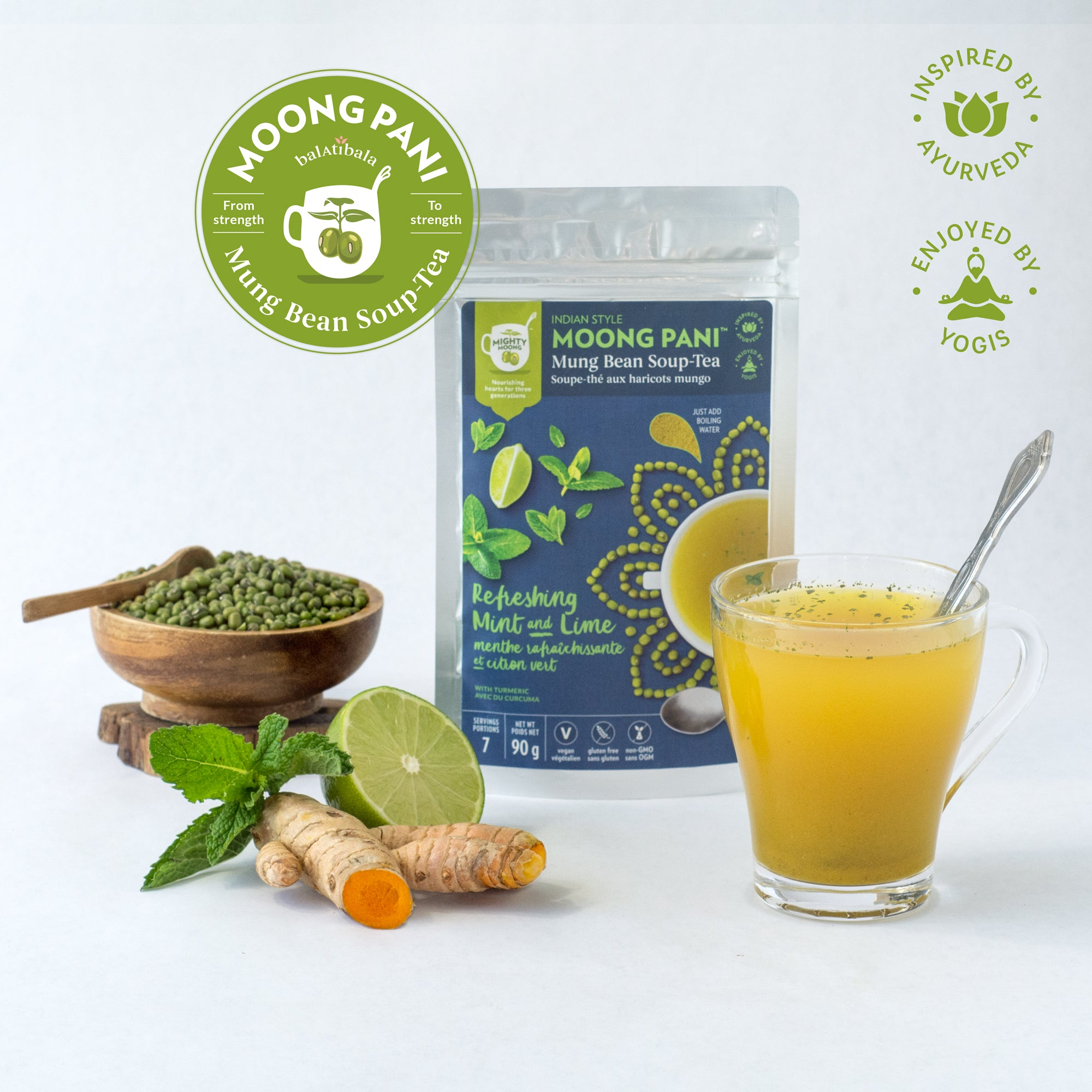 Refreshing Mint and Lime with Turmeric - 7 servings