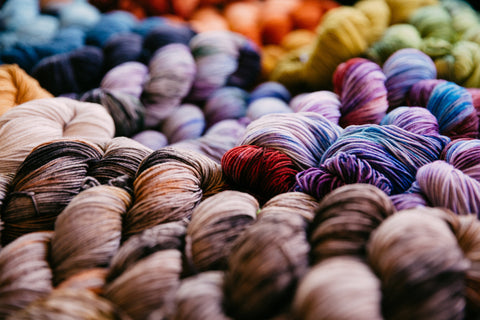 A bunch of colorful yarn