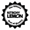 The Official Kitschy Lemon Seal of Quality Black and White