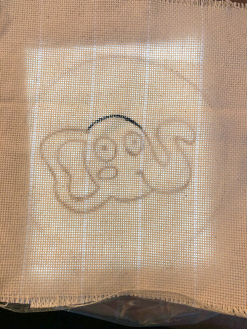 Tracing your translucent paper sketch to monk's cloth