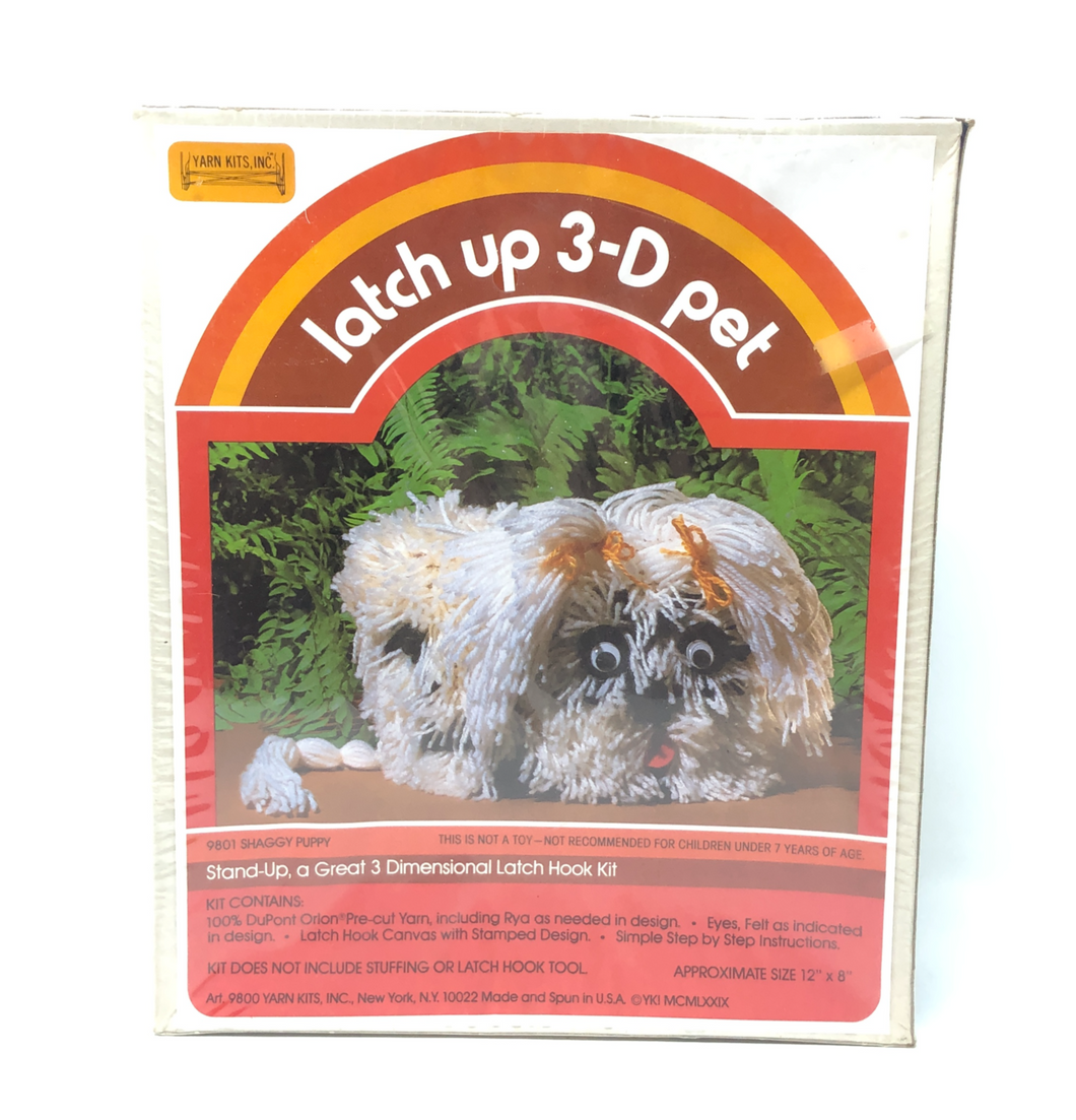 Shaggy Puppy, Latch Up 3-D Pet Kit (with Googly Eyes!)