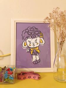 Purple Lamb Print
