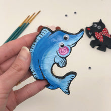"Load image into Gallery viewer, ""Sometimes Sharp"" Marlin Brooch"