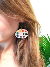 Load image into Gallery viewer, Paint Palette Earrings