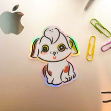 Load image into Gallery viewer, Happy Holographic Doggo Sticker