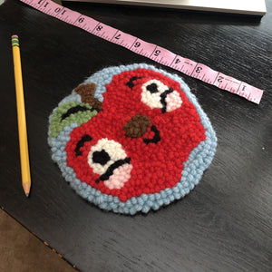 Crazy Happy Apple Forever Mug Rug