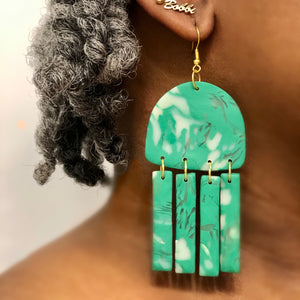 Abstract Dangle Green-This style needs a name. It could be yours!