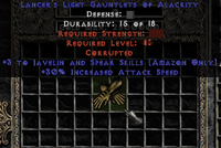 30% IAS +3 Javelin Gloves