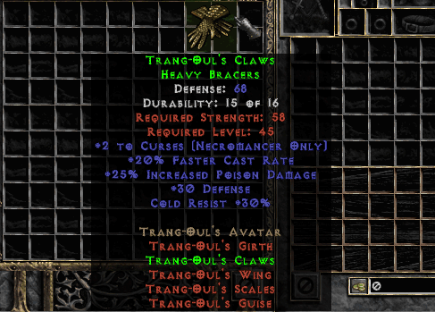 5-10% All Res Trang-Oul's Claws (Softcore) - d2dm