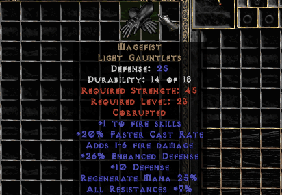 5-10% Res Magefist (Softcore) - d2dm