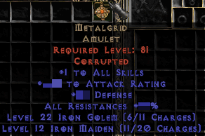 +1 Metalgrid Amulet (Softcore) - d2dm