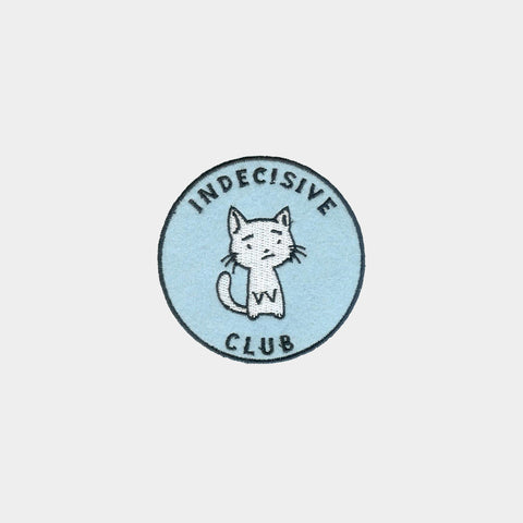 Indecisive Club Iron-on Patch (Blue)