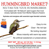 Nectar 2-1/2 pounds - Hummingbird Market of Tucson, Arizona. Feeders and Nectar