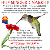Nectar 5 pounds - Hummingbird Market of Tucson, Arizona. Feeders and Nectar