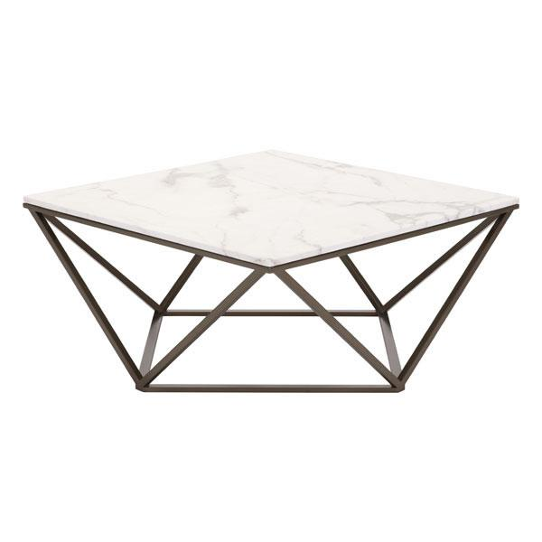 "Write Me 47.2"" X 23.6"" X 17.7"" White Coffee Table Coffee Tables HomeRoots"
