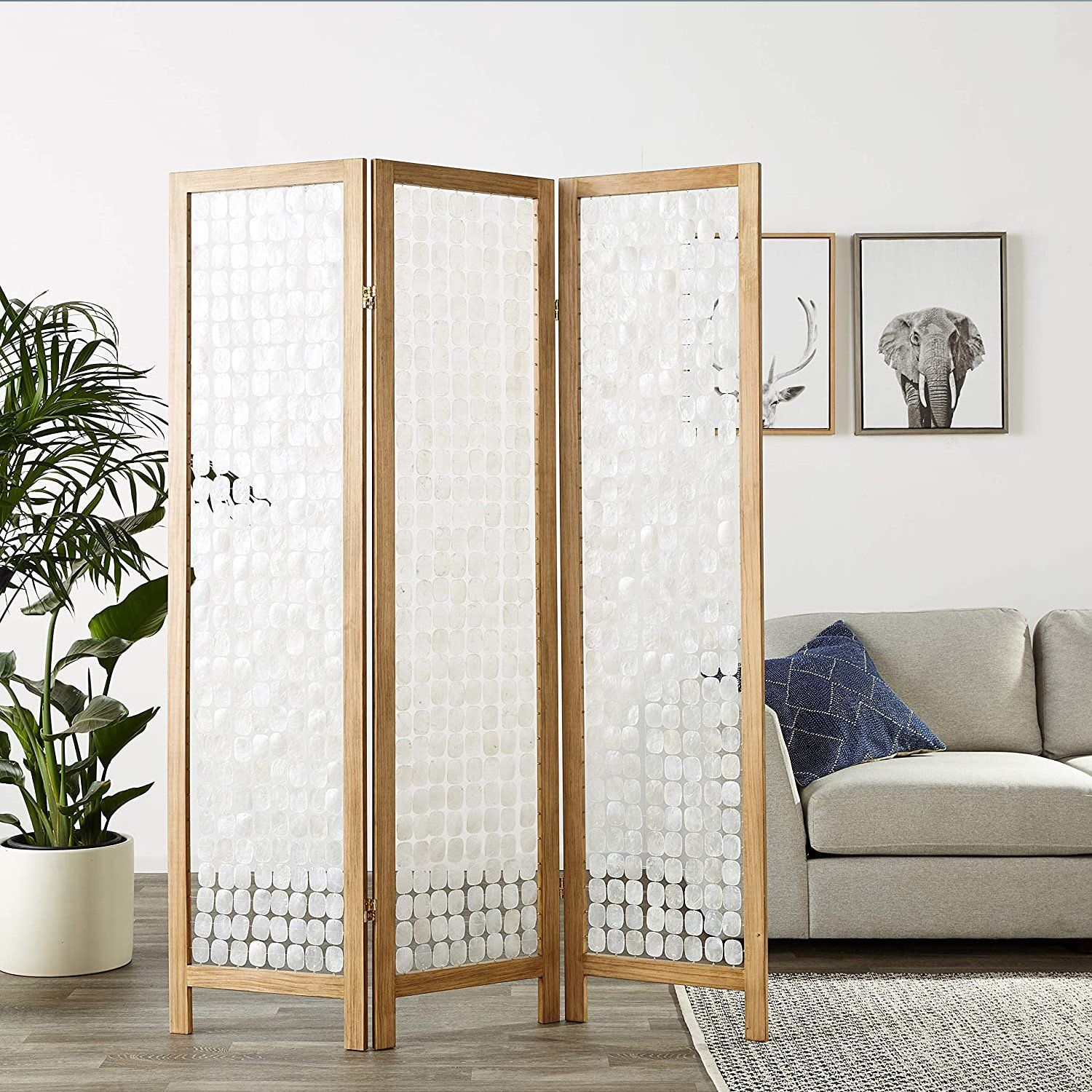 Aurora Capiz Shell Room Divider Screens HomeRoots