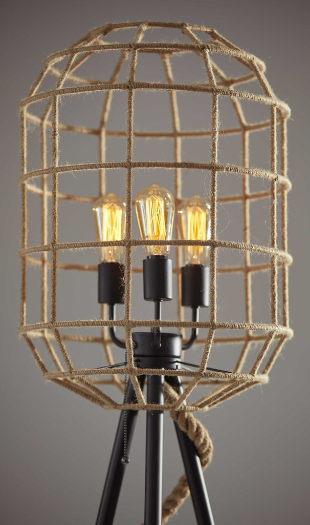 Eastport Caged Floor Lamp Lighting HomeRoots.co