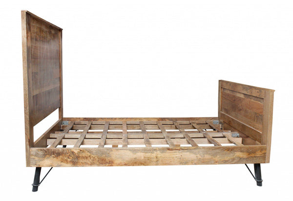 Anika Sustainable Mango Wood King Size Bed HomeRoots.co