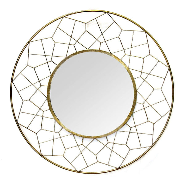 WRITE ME Gold Metal Glass Mdf Mirror Mirrors HomeRoots
