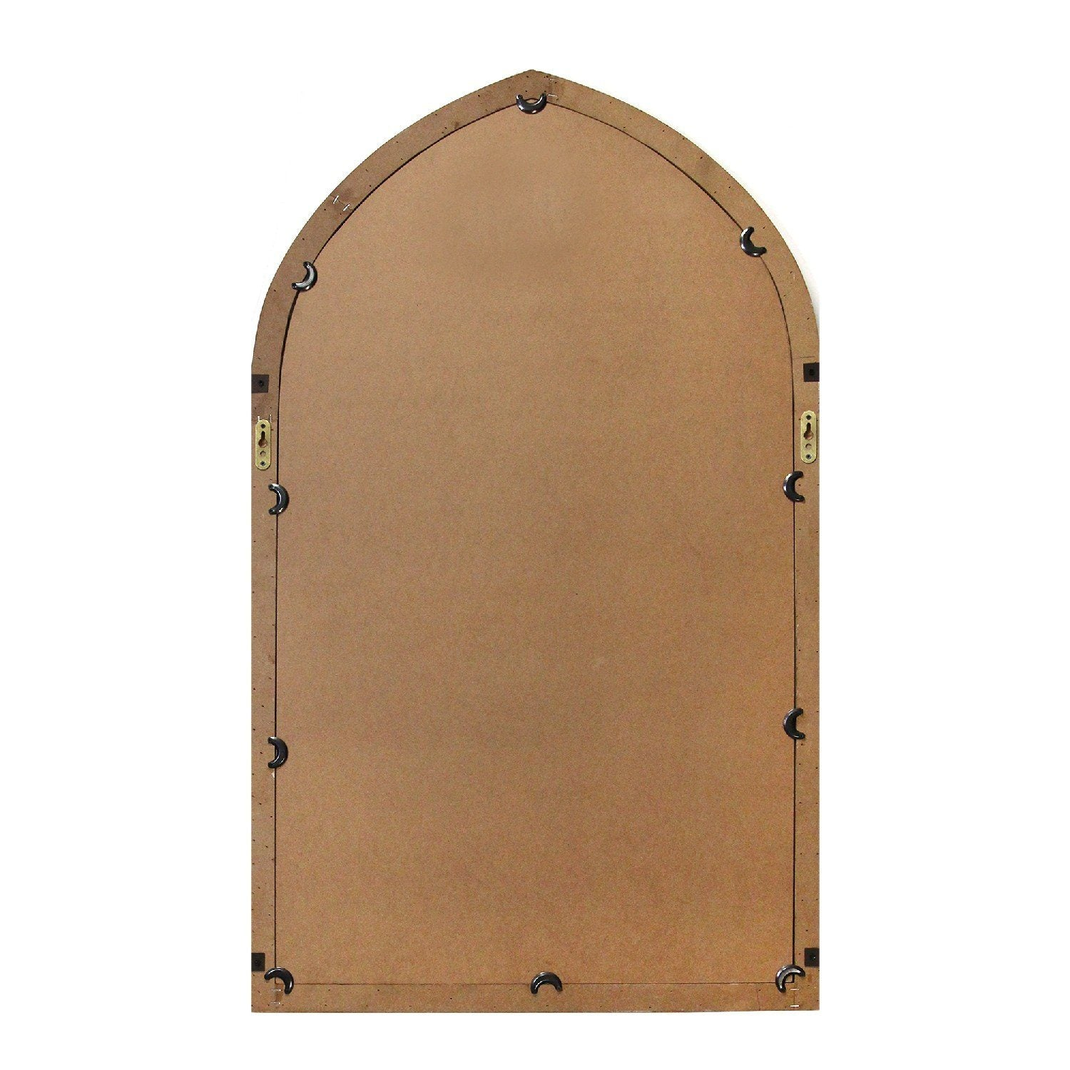 Tuck Arched Bronze & Wood Mirror Mirrors HomeRoots