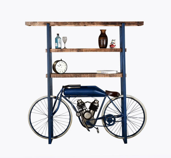 "Write Me 14"" X 72"" X 72"" Blue Cycle Bookshelf Shelves HomeRoots"