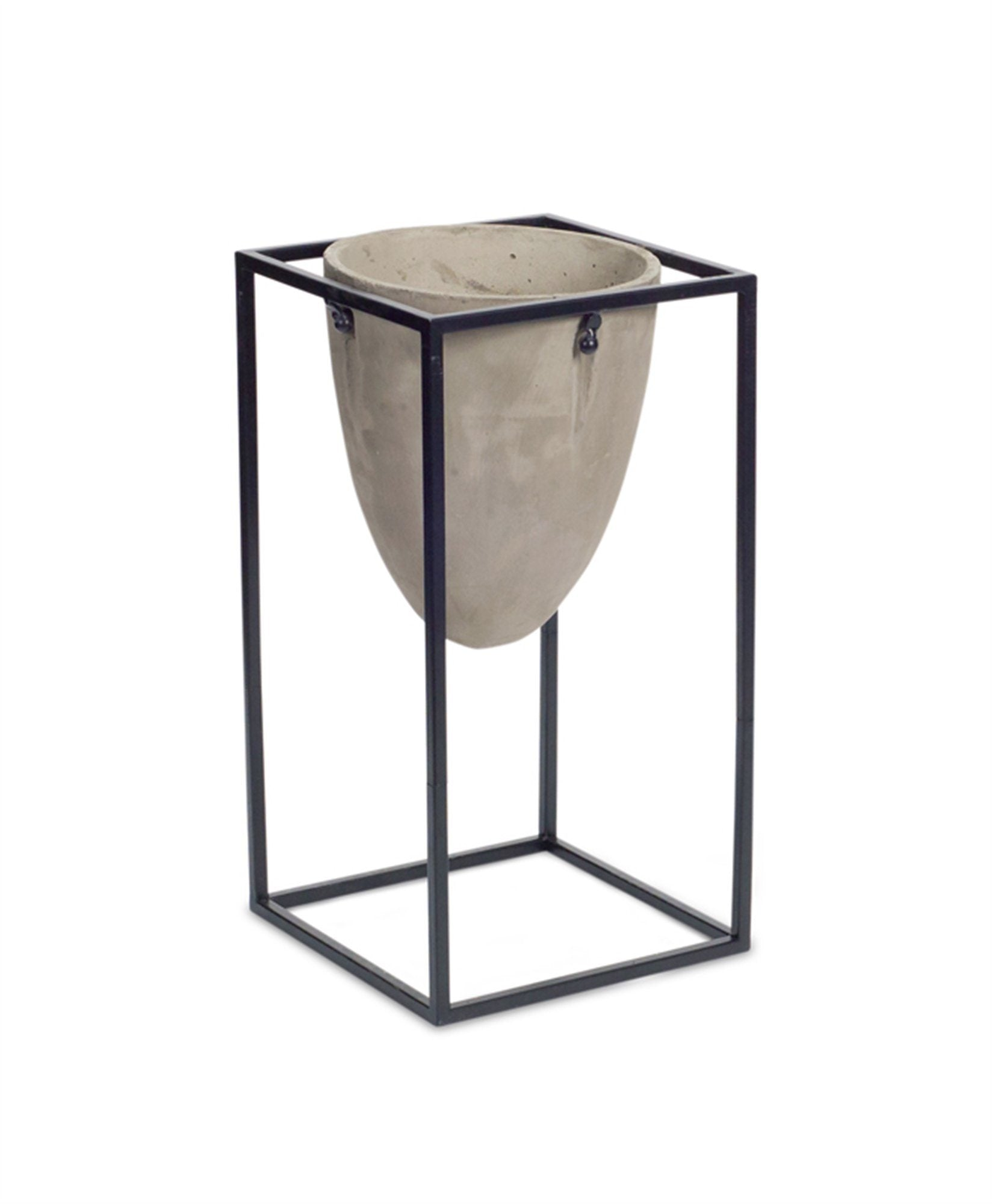 "Lahinch Industrial Cement Pot Stand (25.5""H) Melrose"