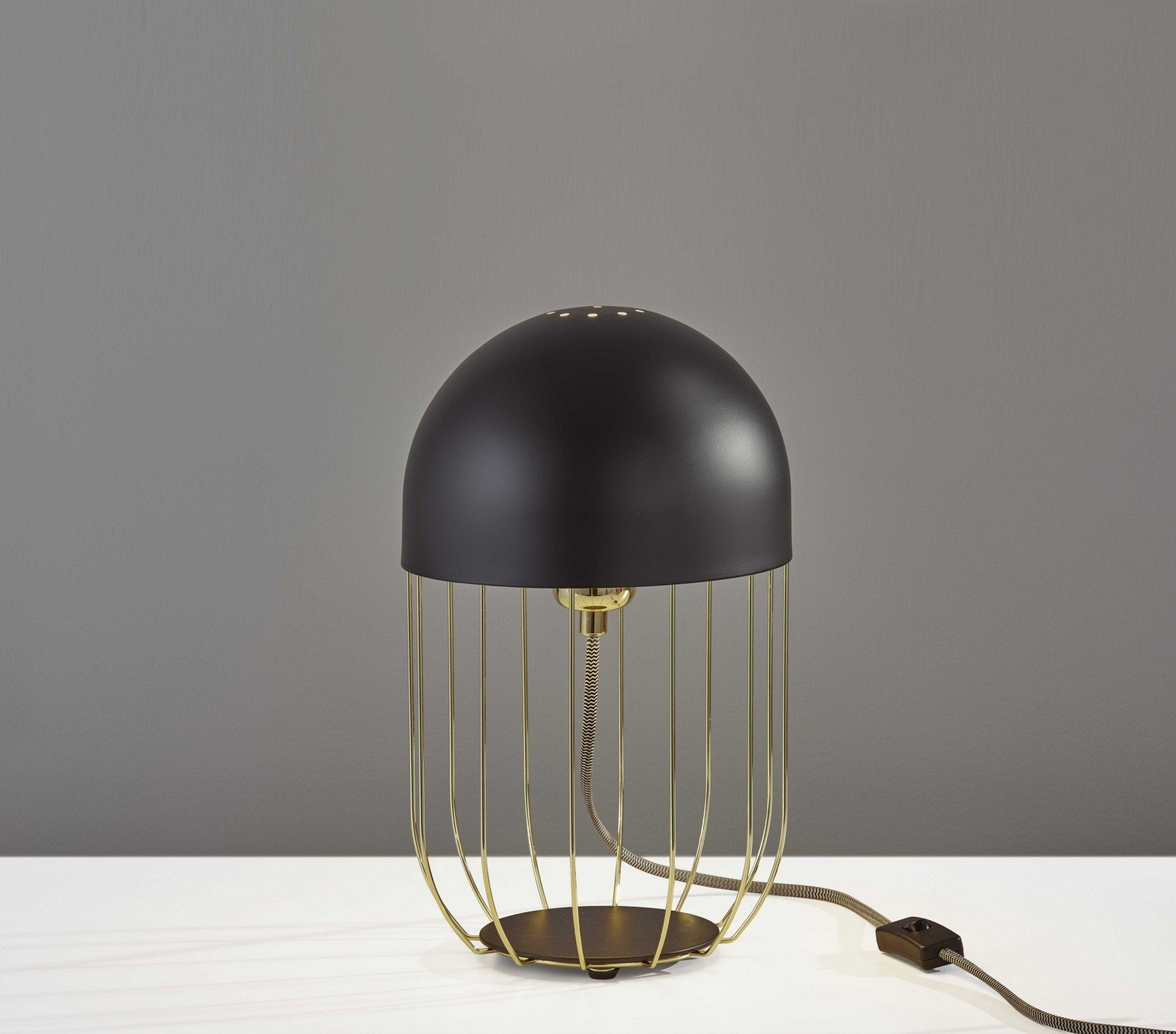 Neo Black Metal Table Lamp HomeRoots.co