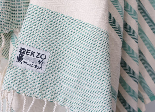 Nomad Beach & Travel Towel (Aqua) EKZO