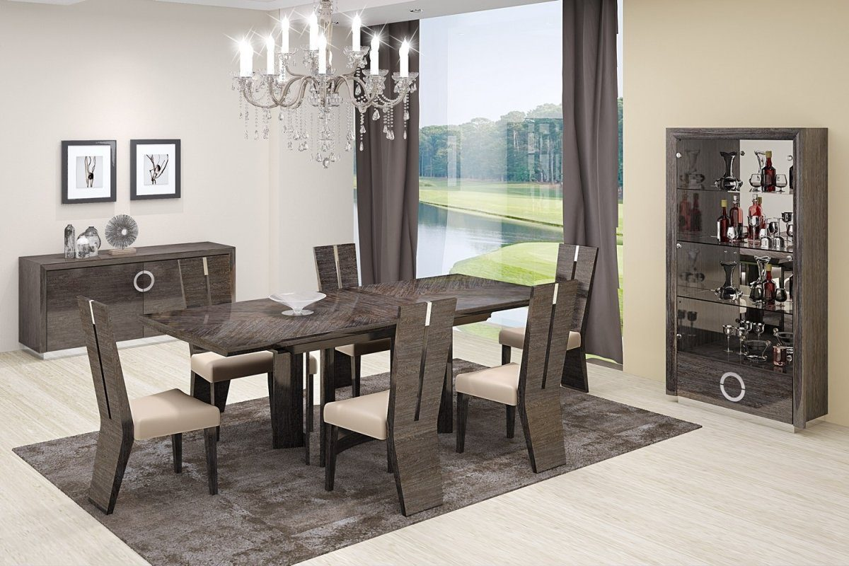 "Write Me 98.5"" X 43.5"" X 30"" Gray Dining Table and 6"" Chair Set HomeRoots"