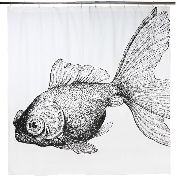"WRITE ME Goldfish Shower Curtain 72""x72"" Thomas Paul"