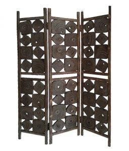 Juniper Weathered Wood Room Divider HomeRoots.co