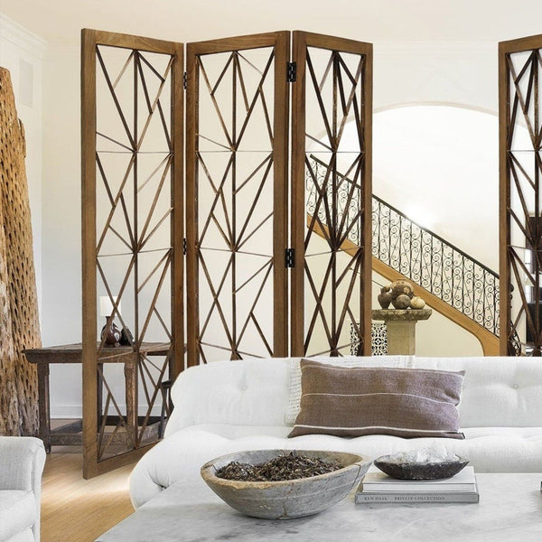 Parker Mango Wood Room Divider Screen HomeRoots.co