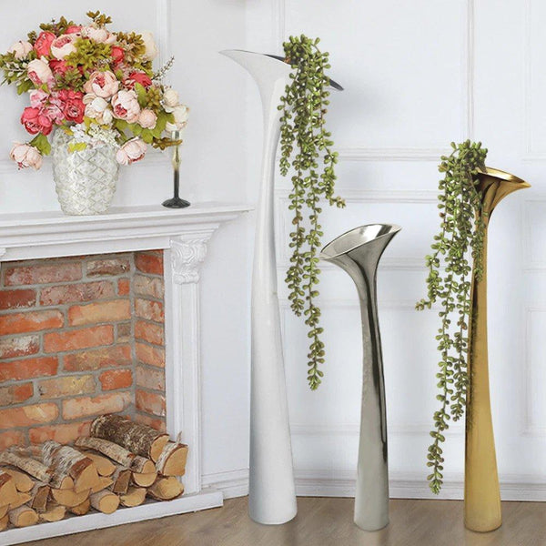 Mayim Metal Flower Floor Vase Galore Home