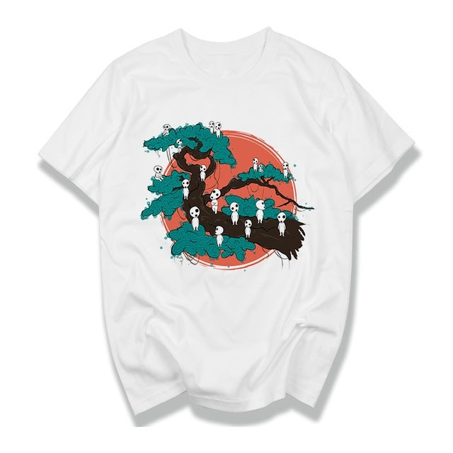 Ghibli Spirit Tree Branch Shirt - Ikuzo Concept