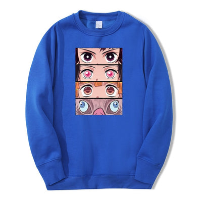 Demon Slayer Eyes Crewneck - Ikuzo Concept