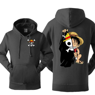 Luffy Straw Hat Hoodie - Ikuzo Concept