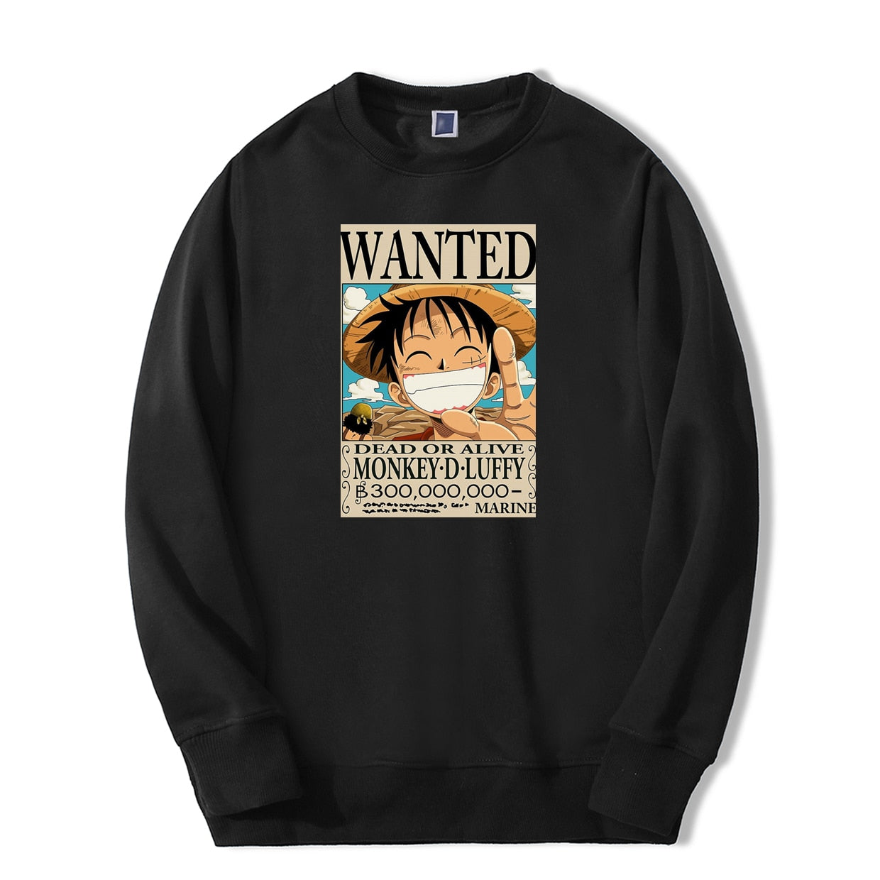 Monkey D. Luffy Wanted Crewneck - Ikuzo Concept