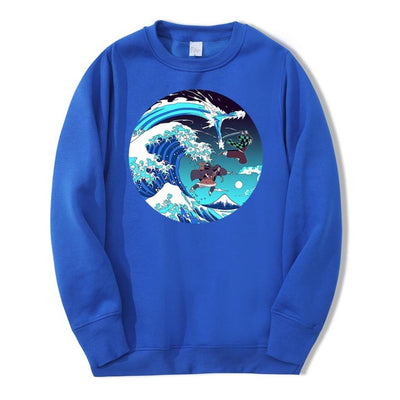 Demon Slayer Wave Crewneck - Ikuzo Concept