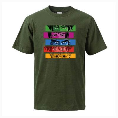 Cowboy Bebop Color Block Shirt - Ikuzo Concept